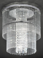 Franklite CF5725 Charisma 4 Light Crystal Ceiling Light