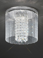 Franklite CF5724 Charisma 3 Light Crystal Ceiling Light