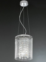 Franklite FL2310/3 Charisma 3 Light Crystal Ceiling Pendant Chrome