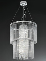 Franklite FL2310/4 Charisma 4 Light Crystal Ceiling Pendant Chrome
