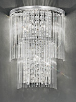 Franklite FL2309/3 Charisma 3 Light Crystal Wall Light Chrome