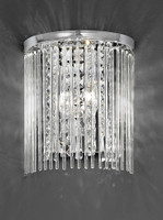 Franklite FL2310/2 Charisma 2 Light Crystal Wall Light Chrome