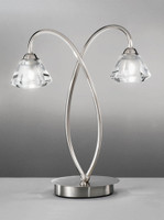 FLT41972 2 Light Table Lamp Satin Nickel