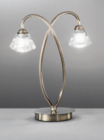 Franklite TL976 Twista 2 Light Table Lamp Antique Brass