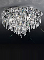 Franklite CF5718 Jazzy 6 Light Crystal Ceiling Light Chrome