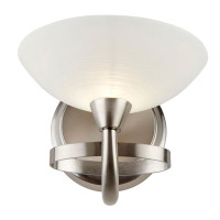 E31CAGNEY1WBSC Cagney 1 Light Wall Light Satin Nickel