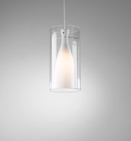 Dar BOD8646 Boda Single Ceiling Pendant Satin Nickel