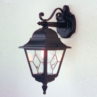 Elstead NR2 Norfolk 1 Light Wall Lantern Black