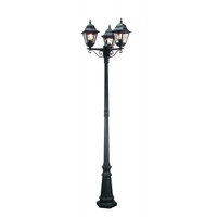 Elstead NR8 Norfolk Triple Lamp Post Black