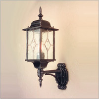 E1516320 1 Light Wall Lantern Black/Silver