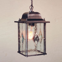 E1516326 1 Light Hanging Lantern Black/Silver