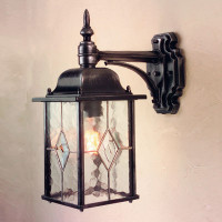 Elstead WX2 Wexford 1 Light Wall Lantern Black/Silver