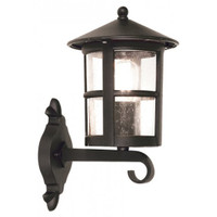 Elstead BL22/G Hereford 1 Light Black Wall Lantern