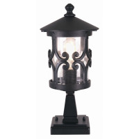 Elstead BL12 Hereford 1 Light Black Pedestal Lantern