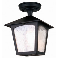 Elstead BL6A York 1 Light Ceiling Lantern Black