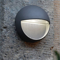 Lutec UT/RADIUS R LED Wall Light Graphite finish