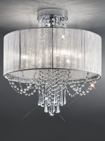 4123036  Temptress 6 Light Crystal Ceiling Light