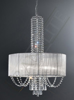 FLF4123046  6 Light Crystal Ceiling Pendant