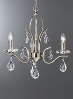 Franklite FL2298/3 Willow 3 Light Chandelier Satin Nickel