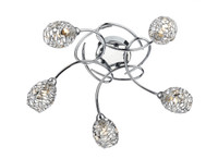 DMUN105450 5 Light Ceiling Light Polished Chrome