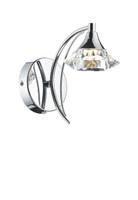 DTUL100750 1 Light Polished Chrome Wall Light