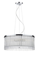 Dar JAP032 Japan 3 Light Polished Chrome Ceiling Pendant