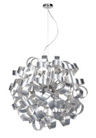 MEDUSA 12 Light Ball Pendant Brushed Aluminium