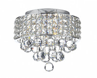 DTAM105350 3 Light Flush Crystal Ceiling Light