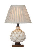 Dar LAY4233/X Layer 1 Light Table Lamp Cream
