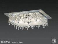 Diyas IL30264 Esta 6 Light Polished Chrome/Crystal Ceiling Light
