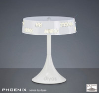 Diyas IL80002 Phoenix White Led Table Lamp