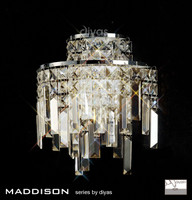 Diyas IL30250 Maddison 2 Light Crystal Wall Light