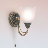 E316011AN 1 Light Wall Light Antique Brass