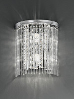 Franklite WB048 2 Light Bathroom Crystal Wall Light