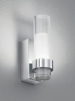 Franklite WB050 1 Light LED Bathroom Wall Light Polished Chrome