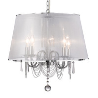 S9114855CC Venetian 5 Light Ceiling Pendant Polished Chrome
