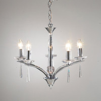 Dar HYP0550 Hyperion 5 Light Polished Chrome Chandelier