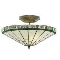 Searchlighht 4417-17 New York 2 Light Semi-Flush Ceiling Light