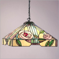 Interiors 1900 TG106SHL/SU02/3 Willow 3 Light Tiffany Pendant