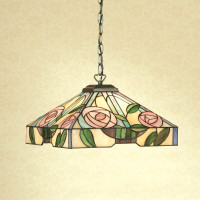 Interiors 1900 TG106SHM/SU02 Willow 1 Light Tiffany Pendant