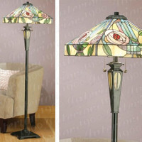 I61106SHLFB20 2 Light Tiffany Floor Lamp