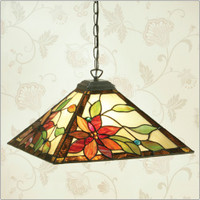 Interiors 1900 TG103SHM/SU02 Lelani 1 Light Tiffany Pendant
