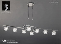 MM151840 8 Light Ceiling Pendant Polished Chrome