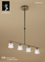 Mantra M1867 ICE 4 Light Ceiling Pendant Antique Brass