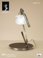 Mantra M1866 ICE 1 Light Table Lamp Antique Brass