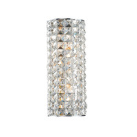 DMAT100950   2 Light Crystal Wall Light
