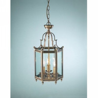 Dar MOO0375 Moorgate 3 Light Cast Brass Ceiling Lantern