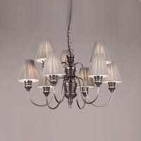 David Hunt  DOR1367 Doreen 9 Light Pewter Pendant String shades
