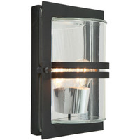 E1522112 E27 BLK C 660 Black Outdoor Wall Light