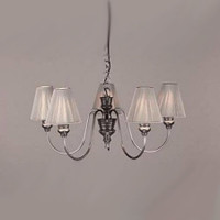 David Hunt  DOR0567 Doreen 5 LIGHT Pendant PEWTER